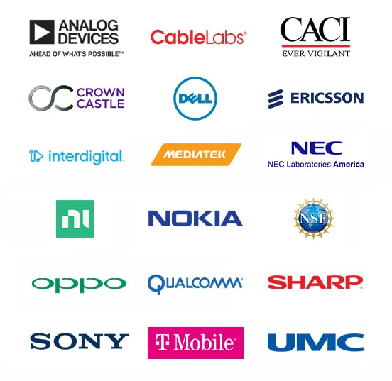 At&t Cablelabs Cablevision Ericsson Huawei Intel Interdigital Keysight L3 Communications National Instruments Nextlink Nokia Qualcomm UMC SiBeam Straightpath