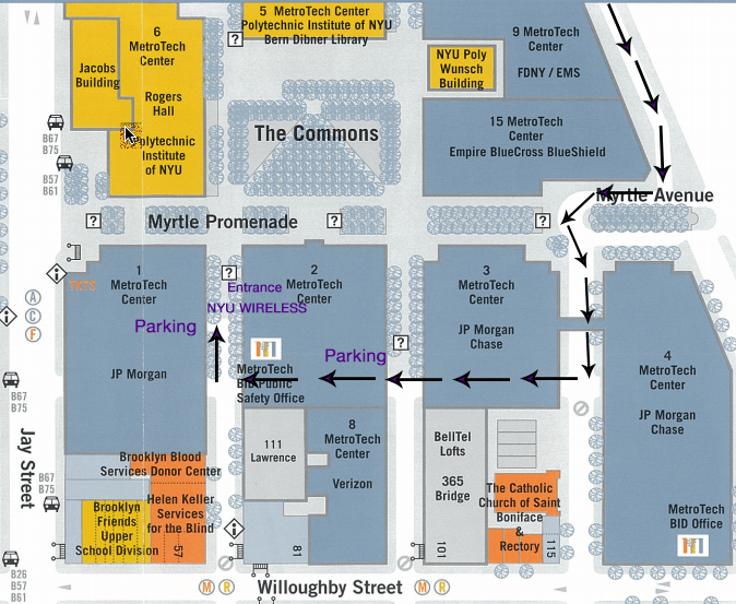 Parking Map of NYU WIRELESS