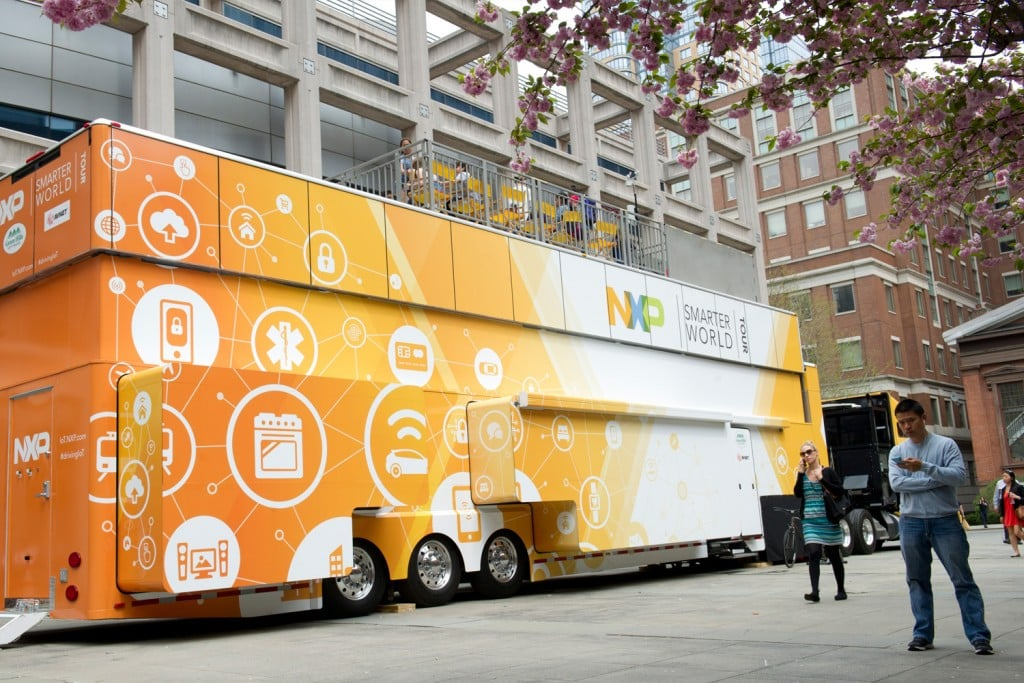 NXP's Smarter World Tour rolling exhibit brings the Internet of Things to life, with more than 170 demos to test drive.