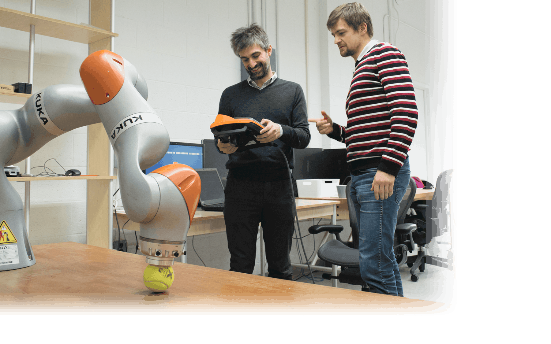 Associate Professor Ludovic Righetti and his team at NYU WIRELESS investigate novel control and perception algorithms for robotic drones, legged robots and manipulators and study how 5G & 6G wireless communication can be leveraged to improve robot autonomy.